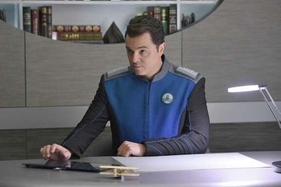 "THE ORVILLE:   Seth MacFarlane in the new space adventure series from the creator of ""Family Guy."" The first part of the special two-part series premiere of THE ORVILLE will air Sunday, Sept. 10 (8:00-9:00 PM ET/PT), immediately following the NFL ON FOX Doubleheader. ©2017 Fox Broadcasting Co. Cr: Michael Becker/FOX"