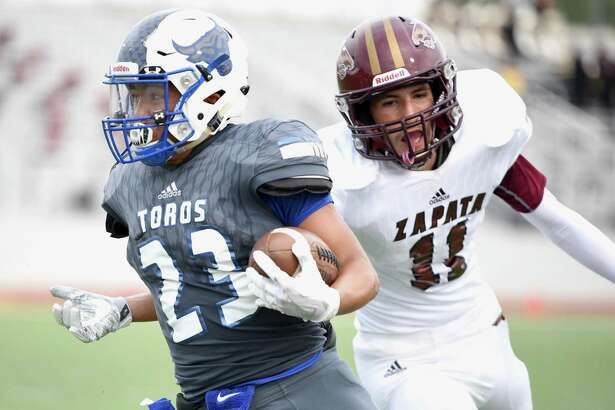 Cigarroa running back Isaac Solis and the Toros are looking for their first district win since 2014.