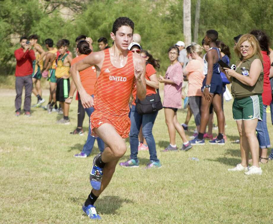 United's Nicholas Martinez, pictured, will join teammate Alex Cruz on the TAMIU cross country team next year. Alexander's Claudette Soto will also join the Dustdevils' women's squad. Photo: Francisco Vera /Laredo Morning Times File / Laredo Morning Times