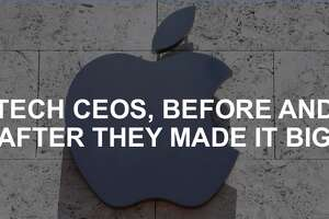 Click through this slideshow to see tech CEOs before and after they made it big.