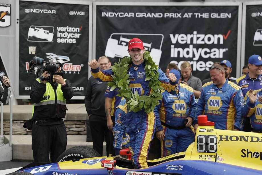 Alexander Rossi got his second career IndyCar win. Photo: Matt Slocum, Associated Press