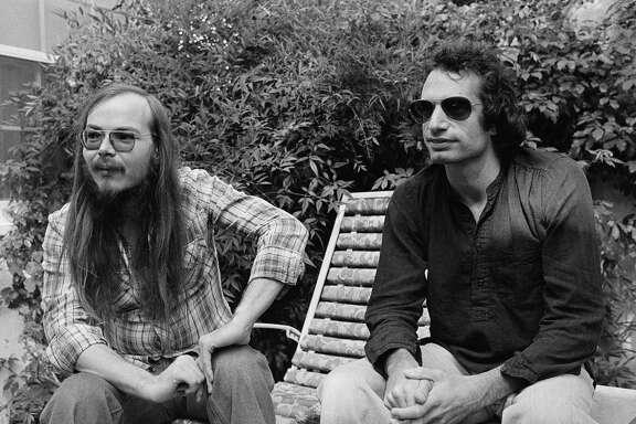 Walter Becker, left, met his Steely Dan bandmate Donald Fagen in college in New York in 1967.