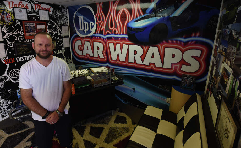 Dale Morris is the owner of Dales' Planet Customs, a design and printing company that specializes in vinyl wraps. Photo: James Durbin/Reporter-Telegram
