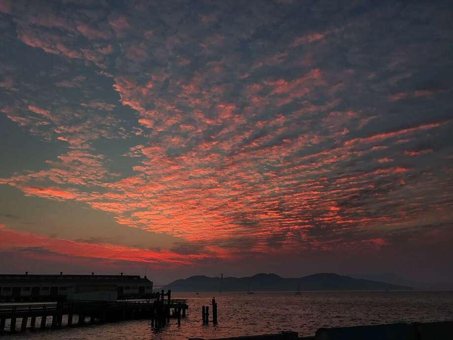 FILE --Views of San Francisco at sunset during a record-breaking heat wave that swept through the Bay Area during Labor Day weekend. Photo: Instagram/@martinusa1