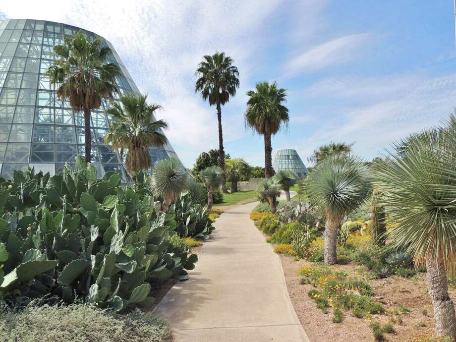 The Lucile Halsell Conservatory complex at the San Antonio Botanical Garden features plants from around the world. Photo: Courtesy San Antonio Botanical Garden