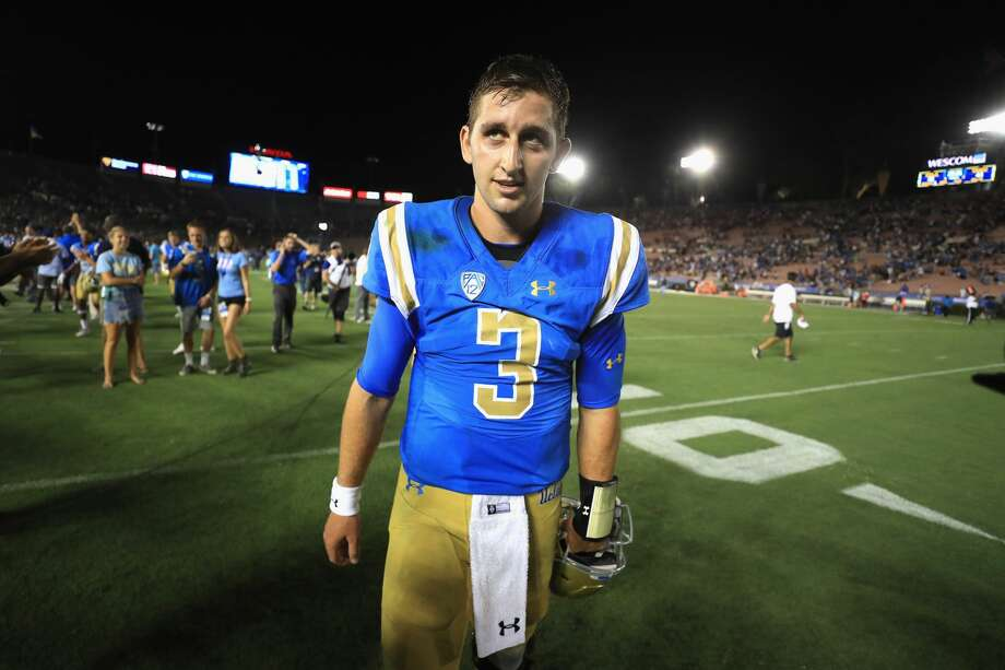 PASADENA, CA - SEPTEMBER 03:  Josh Rosen #3 of the UCLA Bruins walks off the field after defeating Texas A&M Aggies 45-44 in a game at the Rose Bowl on September 3, 2017 in Pasadena, California.  (Photo by Sean M. Haffey/Getty Images) Photo: Sean M. Haffey/Getty Images