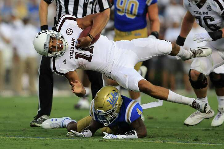 Former Reagan High quarterback Kellen Mond and the Aggies were upended by Jaleel Wadood and UCLA after leading 44-10.