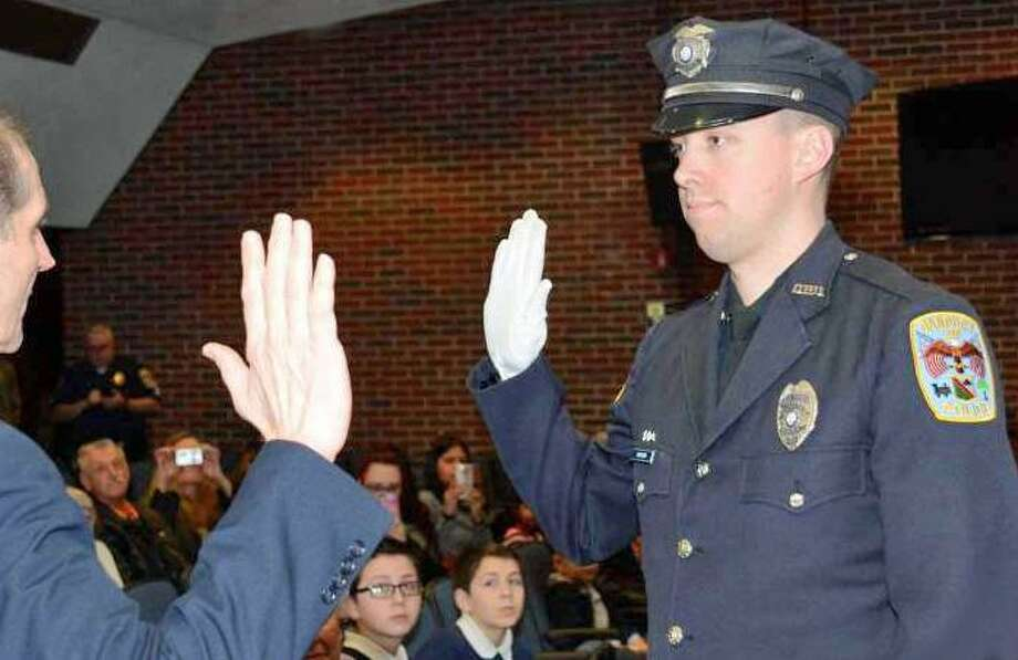 Drew Carlson was promoted to sergeant in 2016. Photo: / Contributed Photo