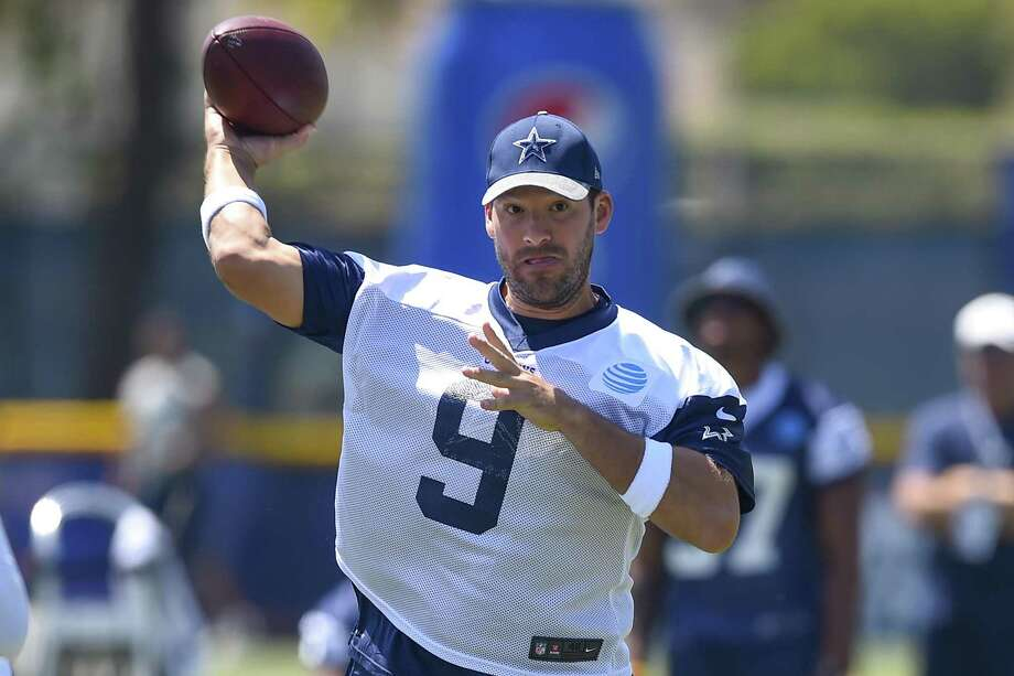 Tony Romo passes the ball during an Aug. 2016 practice at training camp in Oxnard, Calif. Photo: Gus Ruelas /AP / AP