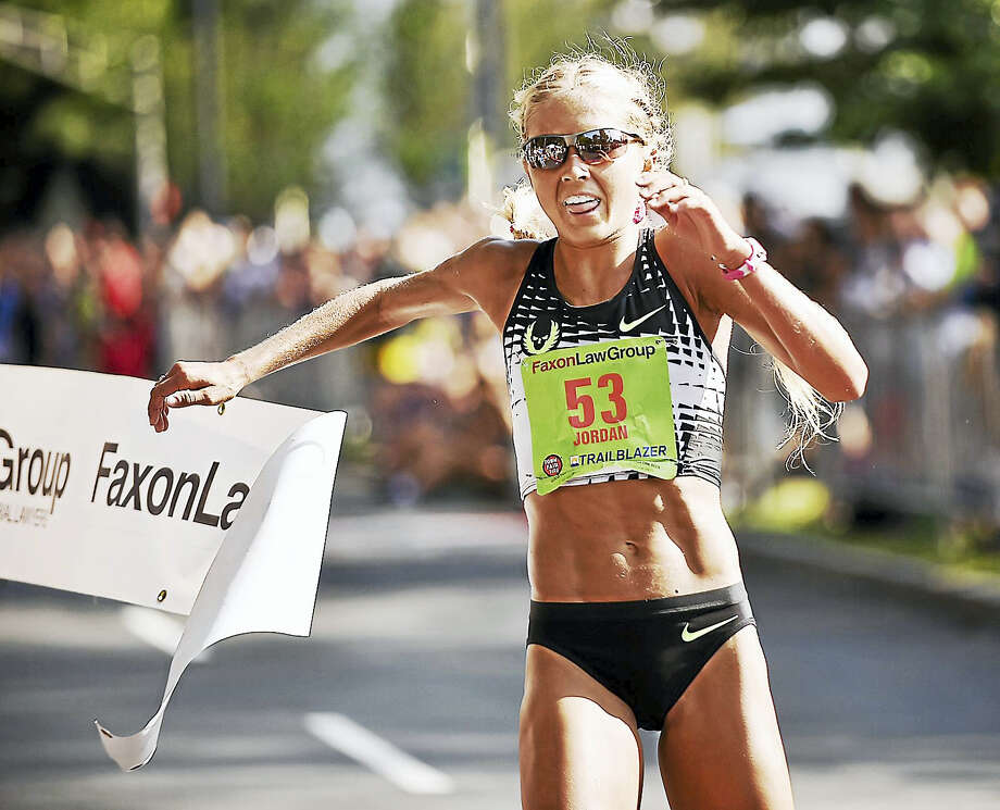 Jordan Hasay dominated the women's race, running to a first-place finish in 1:06:35, Monday, September 4, 2017, at the 40th annual New Haven Road Race USATF 20K Championship in New Haven, Connecticut. Photo: Catherine Avalone/Hearst Connecticut Media / New Haven Register