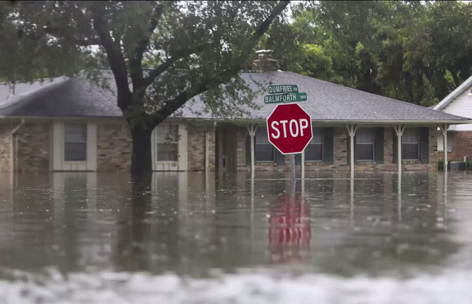 Houston Chronicle photojournalist Mark Mulligan returned to several sites he photographed in the Meyerland area of Houston on Sunday, Aug. 27, 2017, later in the week to document how much they had changed since flood waters roared through the area. These photographs show just how high the water was in the area. What they do not show are the thousands of homes here and elsewhere in the region that are having to be completely gutted. Parts of the city and region are still underwater. Photo: Mark Mulligan/ Houston Chronicle