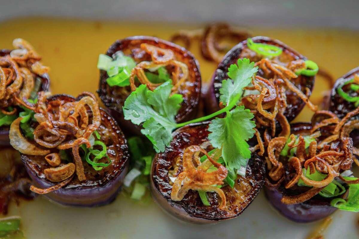 Pan-seared Japanese eggplant at Maba Pan-Asian Diner