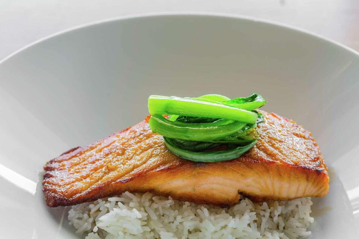 Ginger miso salmon at Maba Pan-Asian Diner