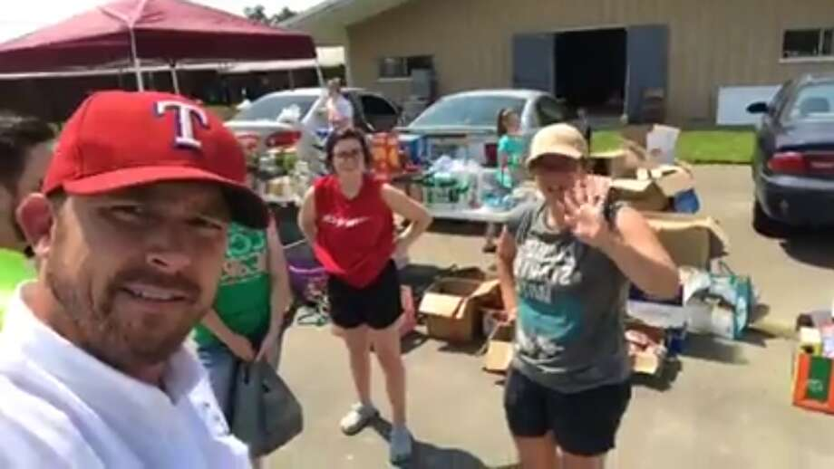 Comedian Chad Prather delivered supplies to Orange County Monday, September 4, 2017. (Screenshots from Facebook Live video) Photo: Facebook/Chad Prather