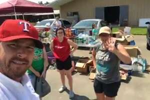 Comedian Chad Prather delivered supplies to Orange County Monday, September 4, 2017. (Screenshots from Facebook Live video)
