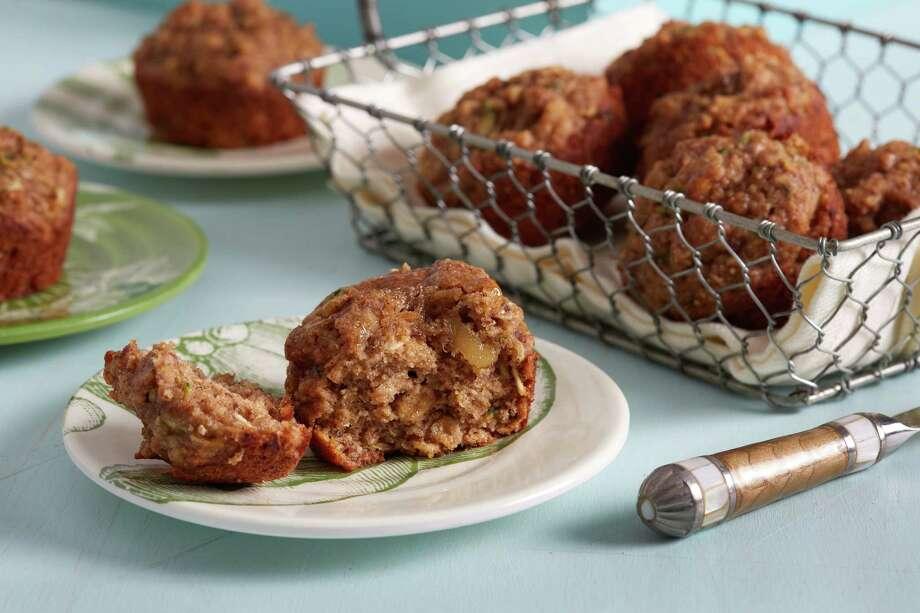 Zucchini Oat Muffins Photo: Stacy Zarin Goldberg / For The Washington Post