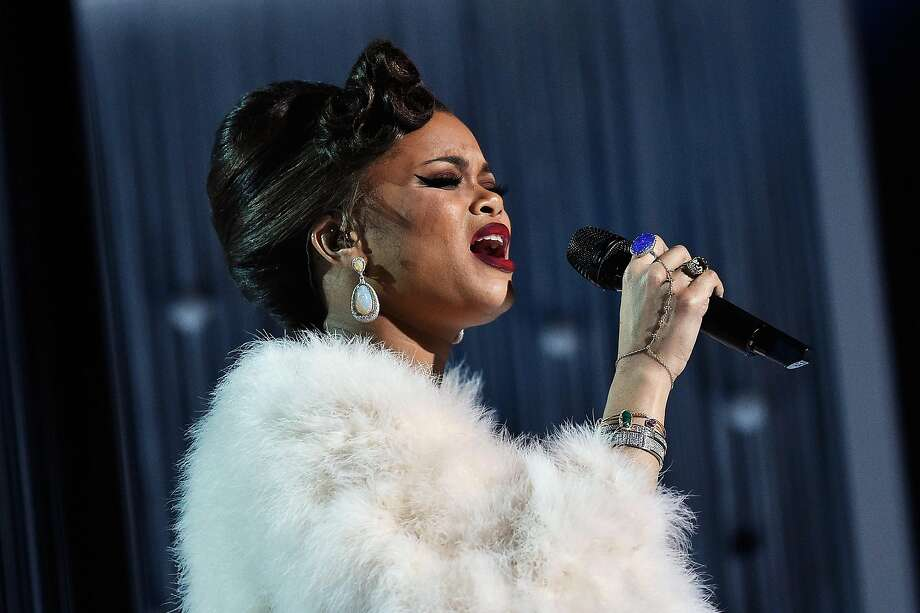 "Singer Andra Day earned a Grammy nomination for the song ""Rise Up."" Photo: Kevork Djansezian, Getty Images For NARAS"