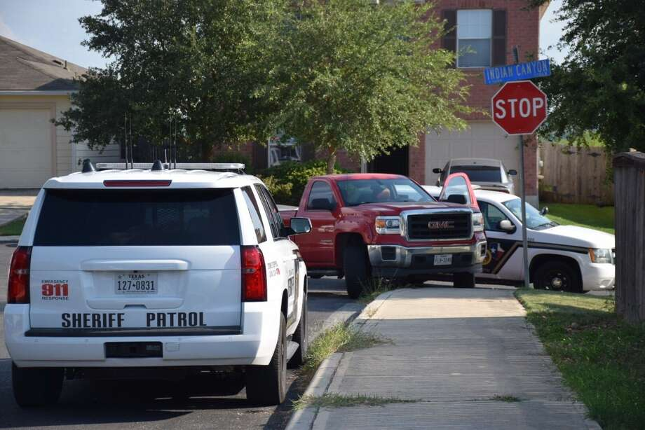 A suspected truck burglar led Bexar County deputies on a chase on Monday, Sept. 4, 2017, after the owner of the truck spotted her stolen vehicle. The chase ended and the suspected was arrested in the Alamo Canyon subdivision. Photo: Caleb Downs/San Antonio Express-News