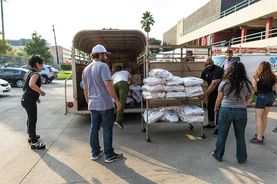 The Midtown Kitchen Collective was turned into a collaborative volunteer effort to prepare, source and distribute food to Harvey victims across the region. Photo: Emily Jaschke / Emily Jaschke