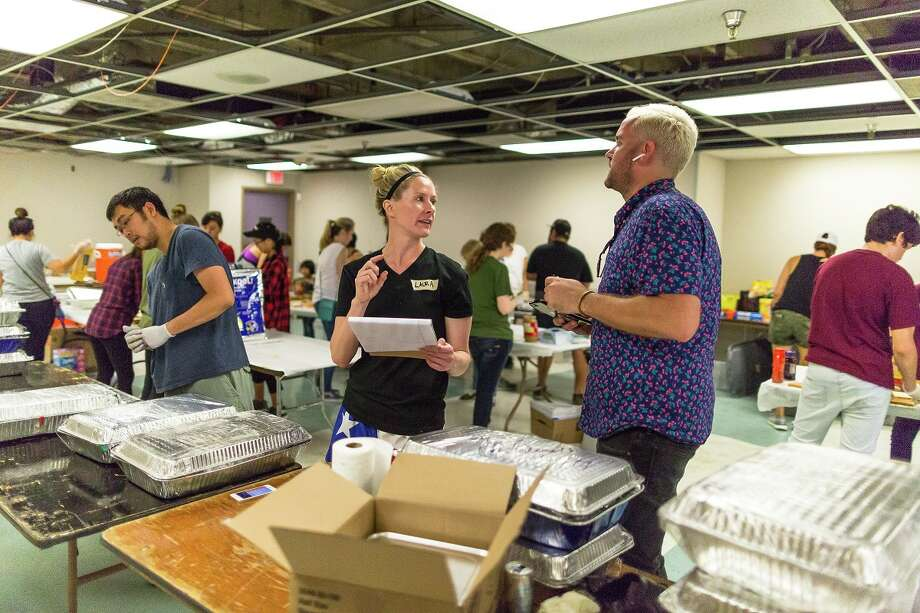Volunteers came together at the Midtown Kitchen Collective to prepare, source and distribute food to Harvey victims across the region. Photo: Emily Jaschke / Emily Jaschke