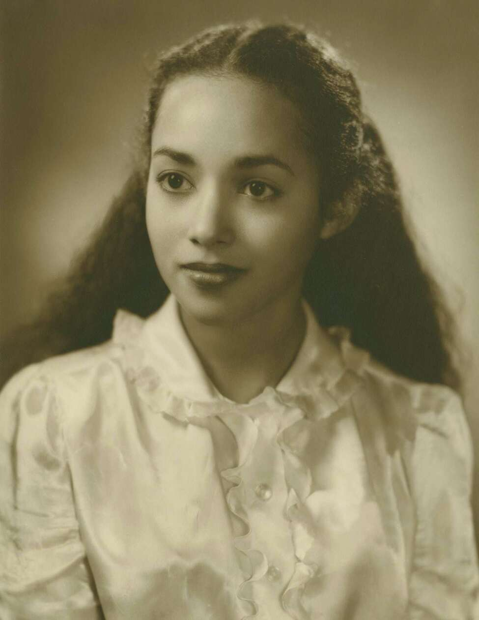 A photo of Mia Mouzon from the Skidmore College yearbook the year she graduated, 1947. Mouzon was the first woman of color to graduate from Skidmore. (Photo provided by Skidmore College)
