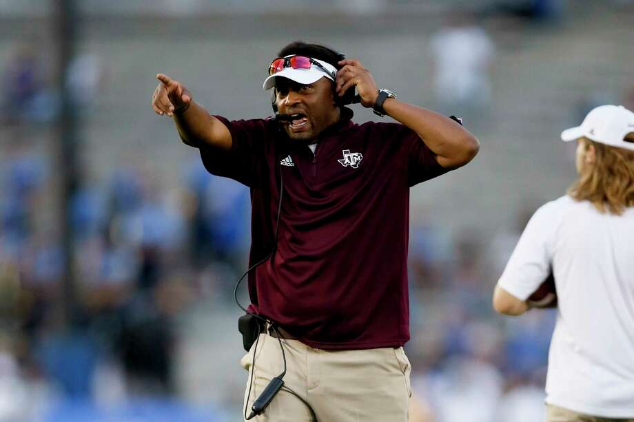Texas A&M head coach Kevin Sumlin is seen against UCLA during an NCAA college football game, Sunday, Sept. 3, 2017, in Pasadena, Calif. UCLA won 45-44. (AP Photo/Danny Moloshok) Photo: Danny Moloshok, FRE / FR161655 AP