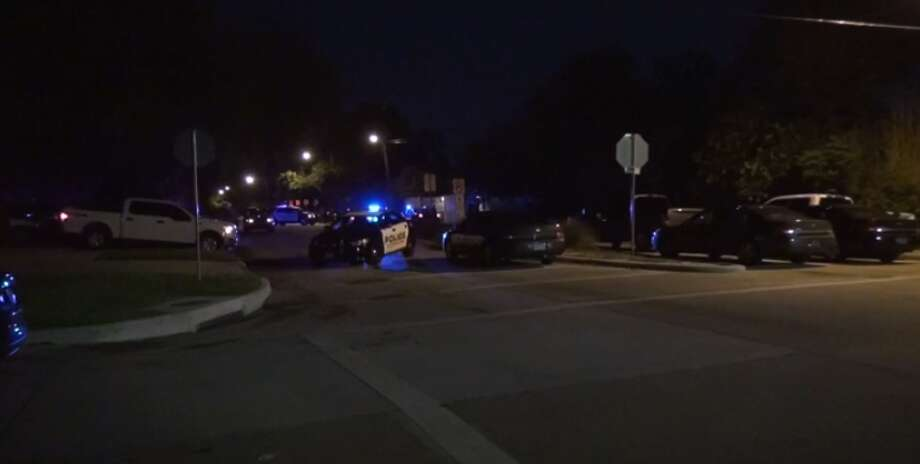 Police shot two suspects and a bystander late Monday in Bellaire, after a miles-long police chase. (Metro Video) Photo: Metro Video