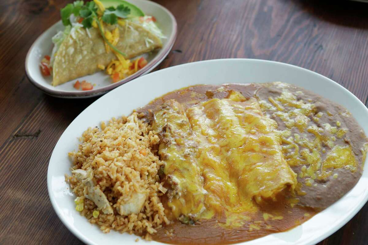 The tres hombres dish is shown at Goode Company Kitchen & Cantina, 8865 Six Pines Dr., the Woodlands.