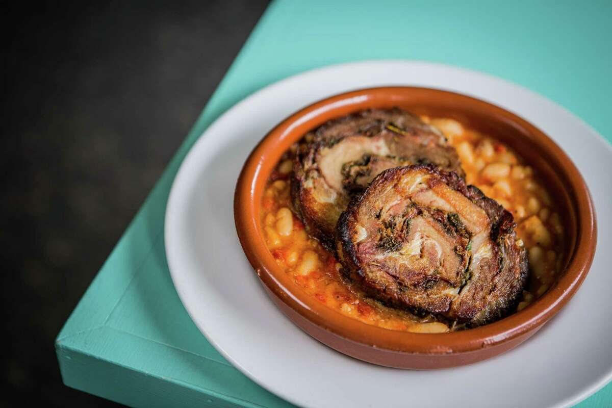 Porchetta e fagioli (pork butt and cannellini beans) at Giacomo's Cibo e Vino