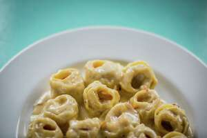 Giacomo's Cibe e Vino's Tortellini All Panna, stuffed pasta with cream sauce, photographed Wednesday, Aug. 2, 2017, in Houston.