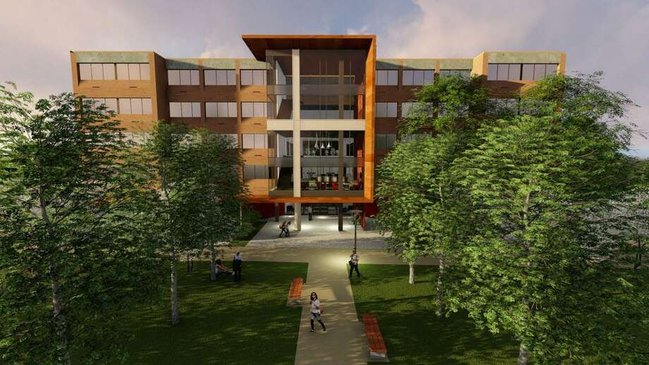 Sacred Heart University's newest residence hall Photo: Contributed Photo