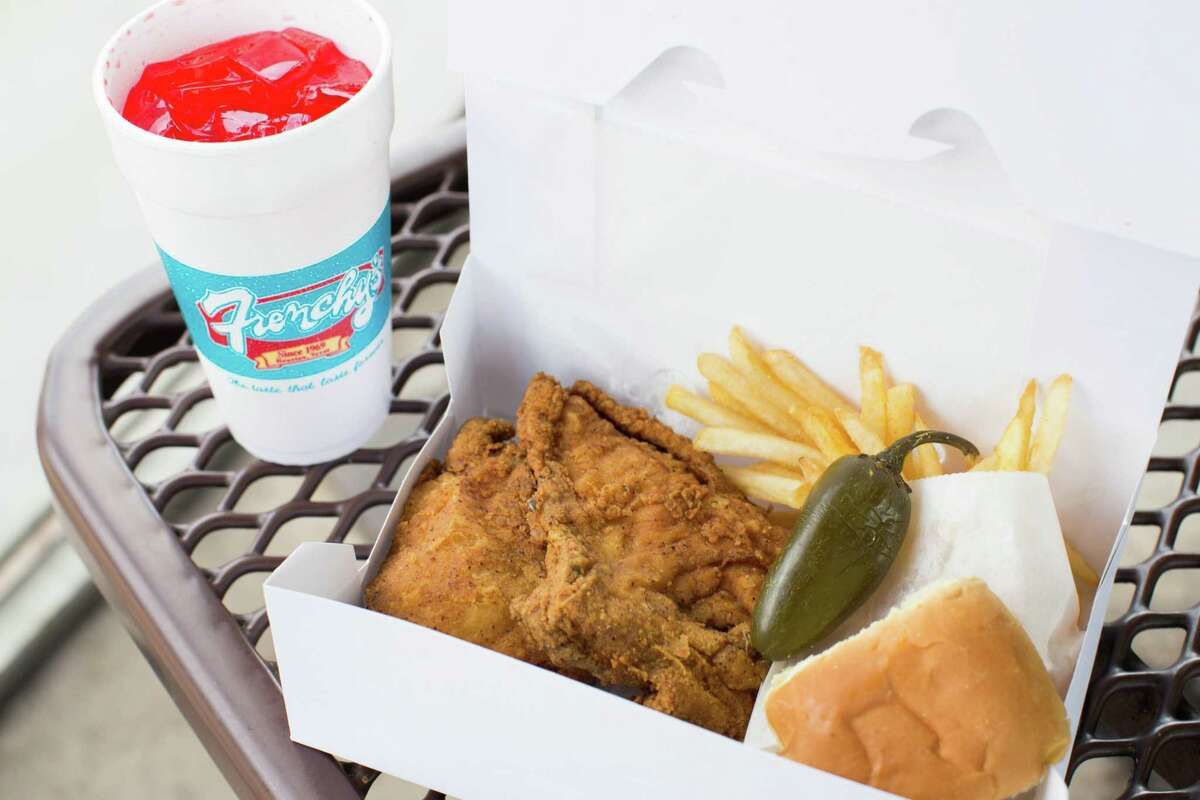 Frenchy's Creole Fried Chicken meal at the original location, 3919 Scott