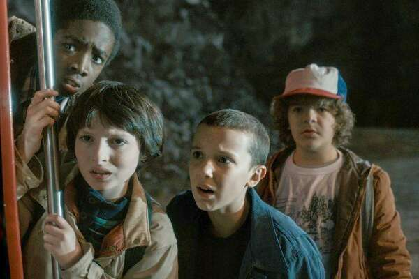 "The young cast of ""Stranger Things,"" which returns for a second season just in time for Halloween."