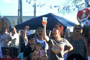 Families and friends fill Rogers Park as they enjoy Beaumont's second annual Oktoberfest event held Saturday. Musical entertainment, including a polka performance by The Royal Klobasneks, food trucks, and a beer garden featuring regional craft beers rounded out the main events.  Photo taken Saturday, October 15, 2016 Kim Brent/The Enterprise
