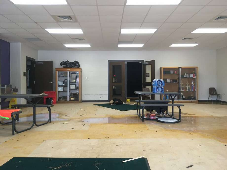 "Flood damage inside Mauriceville Middle as well - LC-M superintendent said last week the district has ""broad, extensive damage. September 5, 2017 Photo: Liz Teitz"