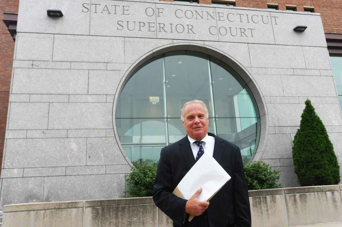 Supervisory Assistant State's Attorney James Bernardi poses for a photo outside Stamford Superior Court in Stamford, Conn. on Tuesday, August 29, 2017. Bernardi is retiring after 35 years of work in Stamford.