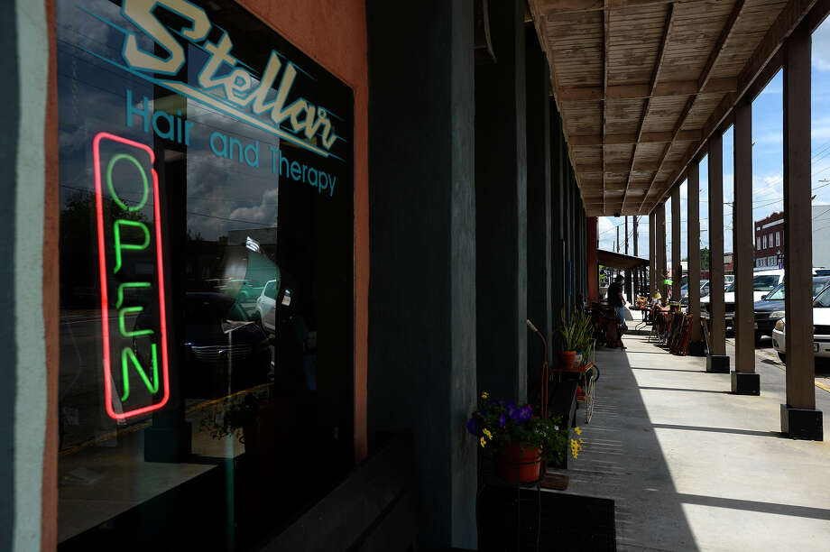 Stellar Hair and Therapy in downtown Port Neches on Friday. The city's small downtown area has seen an influx of new businesses trying to revitalize it over the past five years. / ©2017 The Beaumont Enterprise/Ryan Pelham