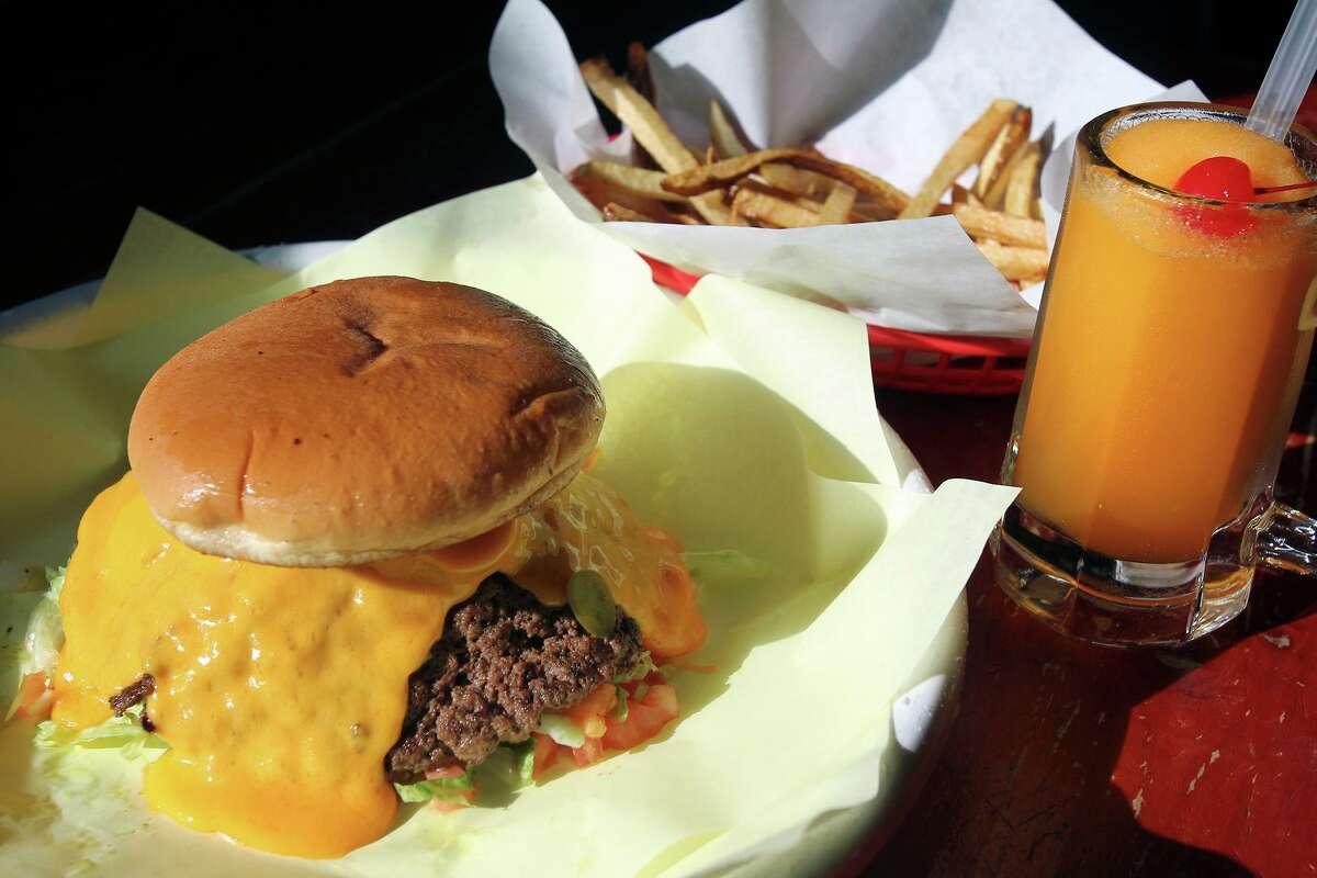 The Flaming Jalapeño burger at Chris Madrid's