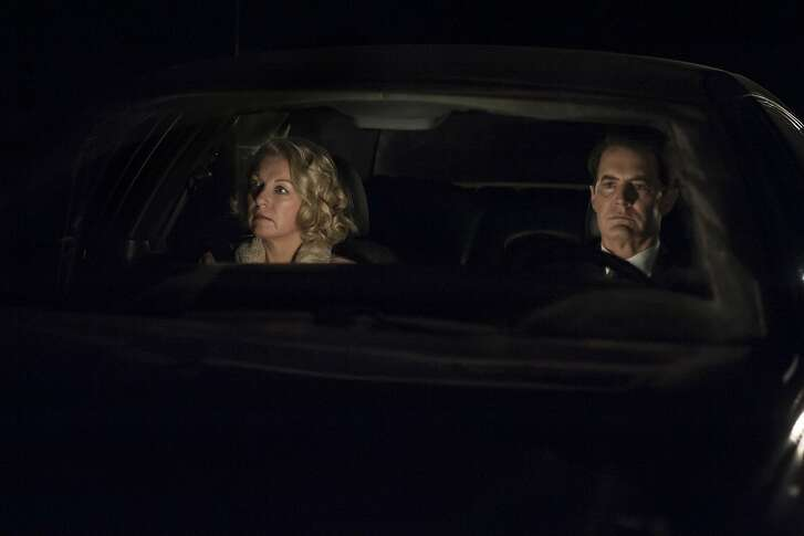 """Laura Palmer/Carrie Page (Sheryl Lee) and Dale Cooper/Richard (Kyle MacLachlan) in Part 18 of """"Twin Peaks: The Return."""""""
