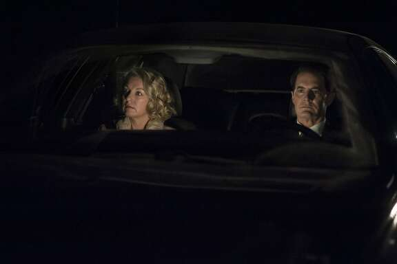 "Laura Palmer/Carrie Page (Sheryl Lee) and Dale Cooper/Richard (Kyle MacLachlan) in Part 18 of ""Twin Peaks: The Return."""