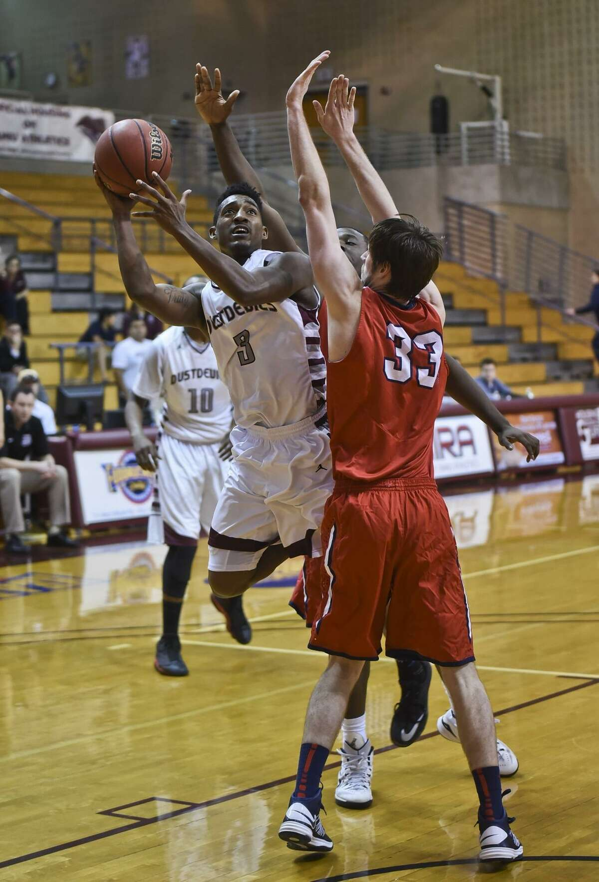 Anthony Alston averaged 11.5 points in 57 games over two seasons with the Dustdevils.