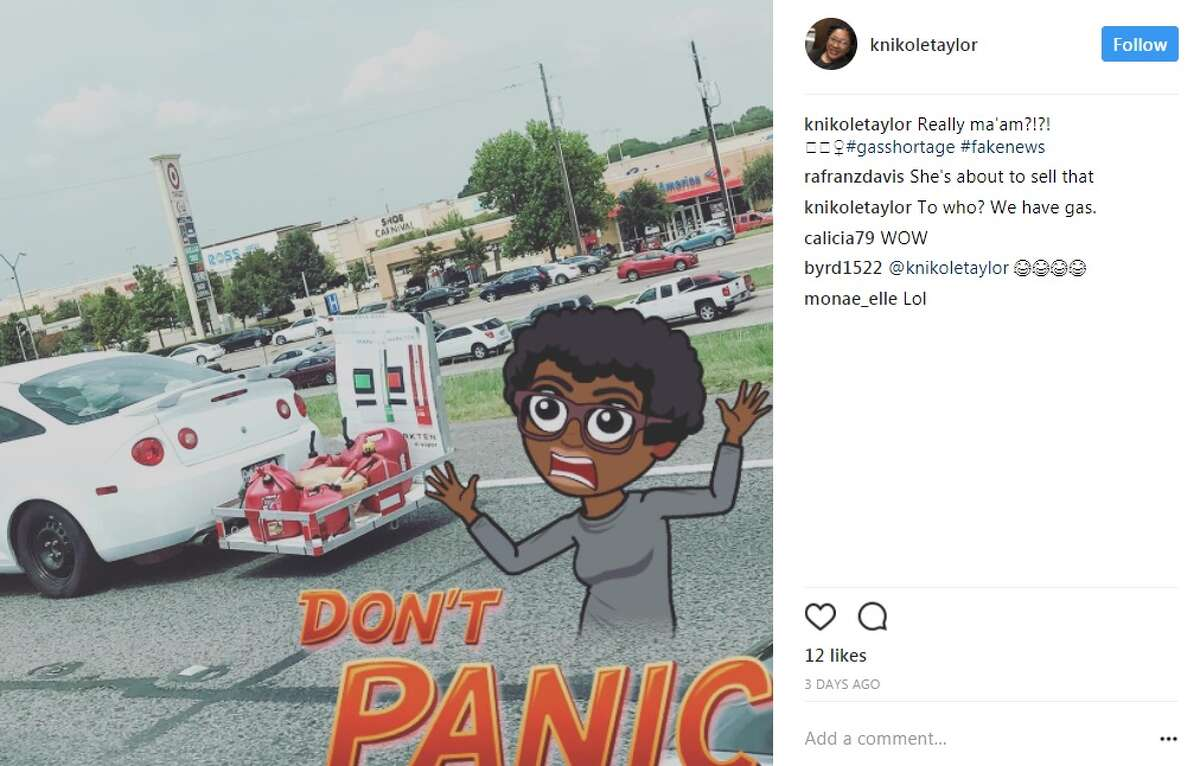 knikoletaylor: Really ma'am?!?! #gasshortage #fakenews