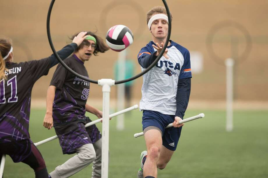 Quidditch, the game from Harry Potter, is being played at UTSA and schools everywhere. It's actually pretty physical with real confusing rules. Photo: Courtesy Photo /Miguel Esparza