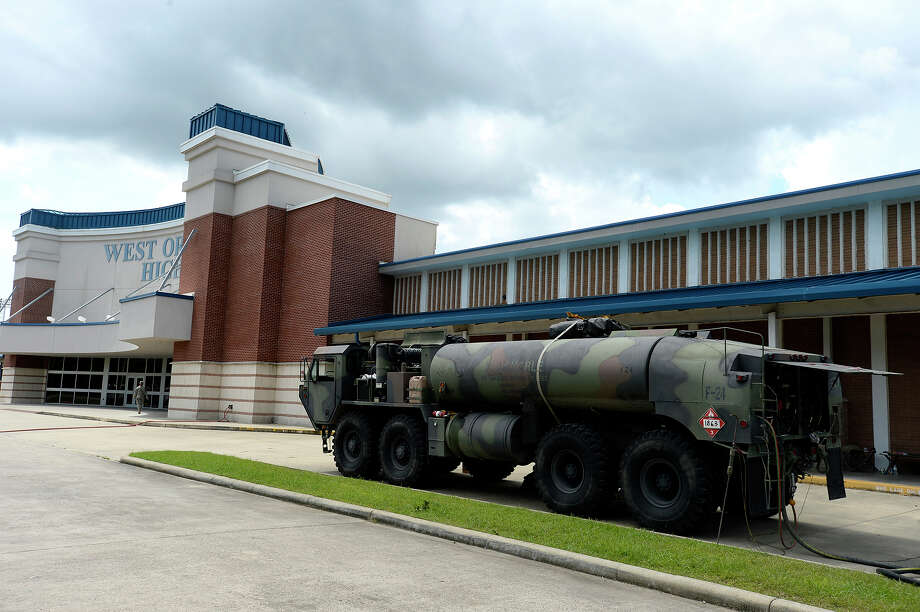 West Orange-Stark High School is housing Army National Guard troops who are helping with the Harvey recovery in the area.  Photo taken Tuesday 9/5/17 Ryan Pelham/The Enterprise Photo: Ryan Pelham / ©2017 The Beaumont Enterprise/Ryan Pelham