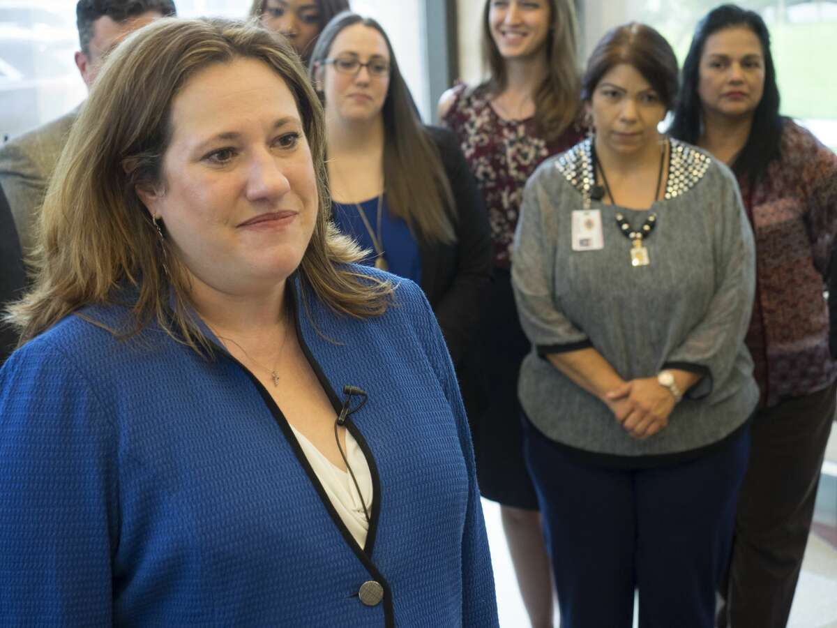 Midland District Attorney Laura Nodolf announces 9/05/17 a clothing and toiletries drive at the courthouse for Hurricane Harvey victims. Tim Fischer/Reporter-Telegram