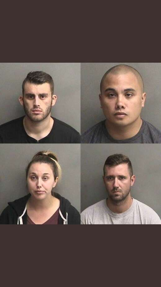 Erik McDermott, Stephen Sarcos, Justin Linn and Sarah Krause (clockwise from top left) have been charged with felonies in the case. Photo: Alameda County Sheriff / Alameda County Sheriff
