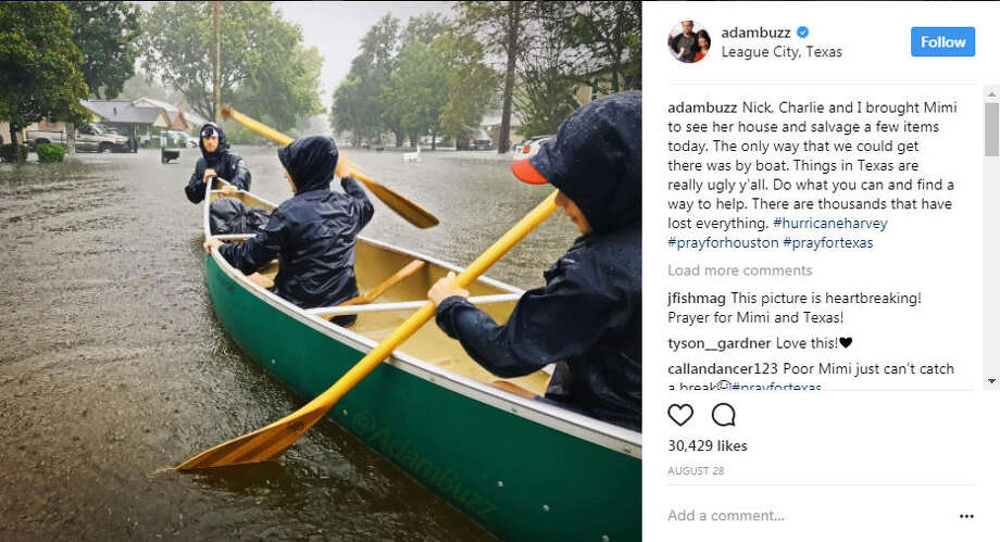 "The Busbys, Houstonians and stars of TLC's ""OutDaughtered,"" were spared from the wrath of Hurricane Harvey as it rolled through the Bayou City, but some of their friends and family were not as lucky.Photo: Adam Busby Instagram Photo: Instagram"