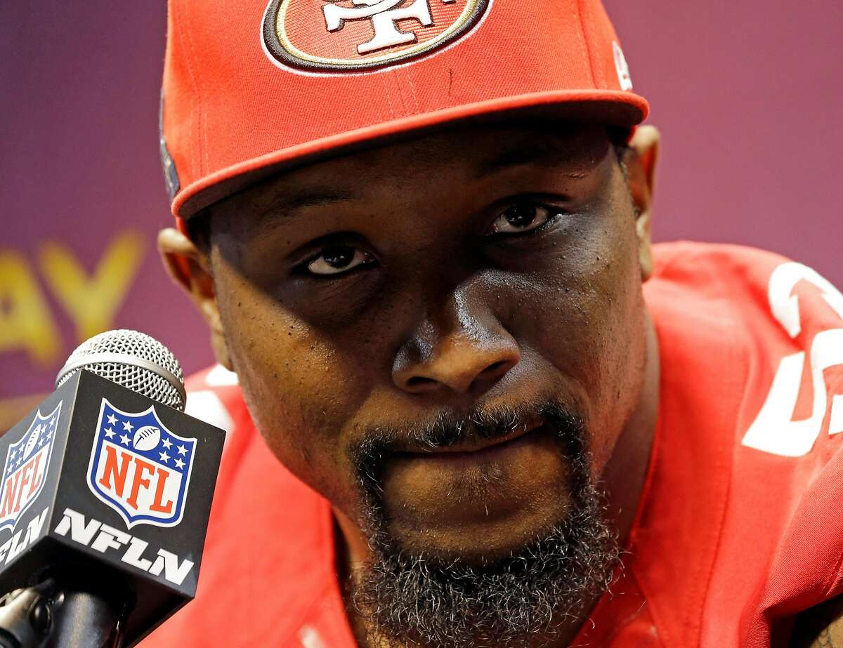 San Francisco 49ers linebacker NaVorro Bowman speaks during media day for the NFL Super Bowl XLVII football game Tuesday, Jan. 29, 2013, in New Orleans. (AP Photo/Pat Semansky)