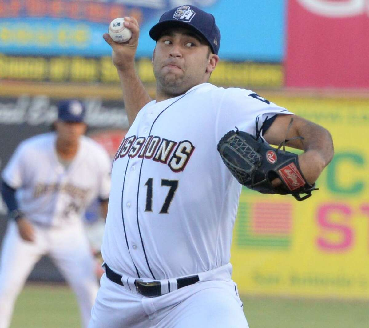 Missions pitcher Brett Kennedy, who lead the Texas League in victories with 13, in action during the 2017 season in which the team won both halves.