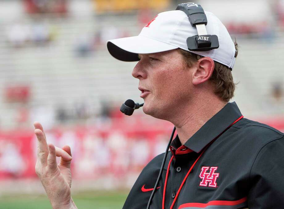 The University of Houston's Major Applewhite hasn't yet coached a game this season, but he has already led his team through one of the toughest tests it will face. Photo: Brett Coomer, Staff / © 2017 Houston Chronicle
